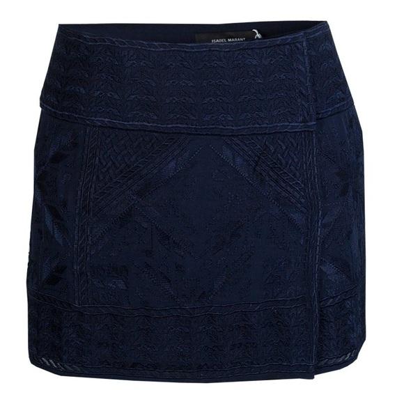 48833b557 Isabel Marant Skirts   Navy Embroidered Mini Skirt   Poshmark
